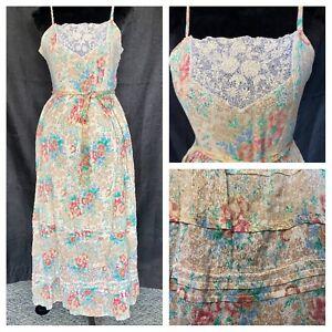 Vintage Rene Derhy Paris Cottage Core Dress