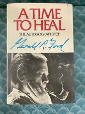 38th President Gerald Ford Hand Signed Autograph A Time to Heal Book
