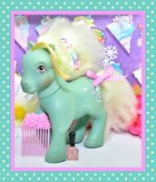 ❤️My Little Pony MLP G1 Vtg 1985 Daisy Sweet Perfume Puff Pony & Ribbon Brush❤️