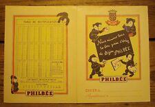 Ancien protège cahier publicitaire pain d'épices de Dijon Philbée