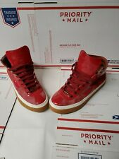 Jimmy Choo Belgravia Red High Top Sneakers Mens Size 10 US 43 Euro