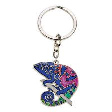 Blue Bug Mood Keyring Chameleon Reptile Birthday Gift Accessory Keys Keychain