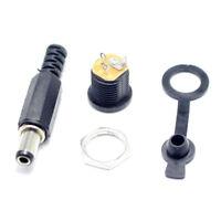 15 sets 5.5x2.1mm DC power connector male female dc socket jack + short plu N5A5