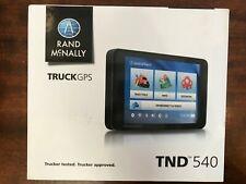 Rand McNally IntelliRoute Tnd 540 Free Lifetime Maps Truck Gps