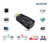 HDMI TO VGA Converter Adapter 1080P With Audio Cable For Laptop PC HDTV XBOX PS3