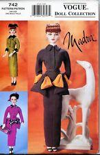 "Madra Doll 1950's Circa Suiting Vogue Pattern 742 Ashton Drake 15.5"" Doll Uncut"