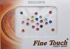 Bindi bijou de peau front bollywood faux piercing multicolore 4 mm INF D 1984