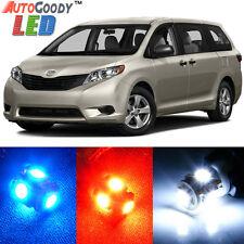 19 x Premium Xenon White LED Lights Interior Package Kit for Toyota Sienna +Tool