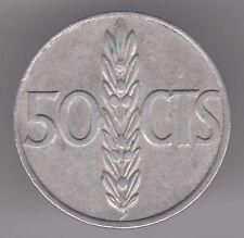España 50 CENTIMOS 1966 (68) Moneda De Aluminio-Francisco Franco
