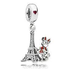 Charm Minnie Torre Eiffel plata de ley Disney