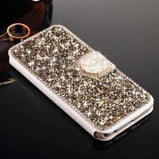 For Apple iPhone 5C Bling Glitter Diamond Leather Card Flip Magnetic Case Cover