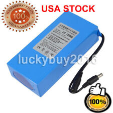 Portable DC 12V 20000mAh Li-ion Super Rechargeable Battery Pack w/ US Plug