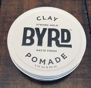 Byrd Clay Pomade 3.35 oz, New Full Size Strong Hold Matte Finish