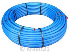 """(2,51€/m) 50m PE Rohr HD blau 1 1/4"""" - 40x3,7 mm PN16  TRINKWASSER,DVGW"""