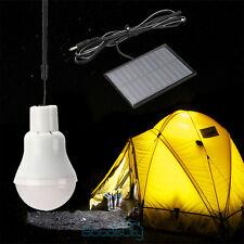 Portable Solar Power LED Bulb Lamp Outdoor Lighting Camp Tent Fishing Light 3W