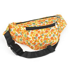 Orange and Yellow Flower Print Bum Bag Festival Fanny Pack Holidays Travelling