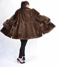 US519 Shaved Plucked Nutria Jacket Beaver Fur Coat Jacket no mink  Pelz ca. L