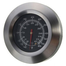 BBQ Smoker Grill Stainless Steel Thermometer Temperature Gauge 60℃-427℃ W7O3