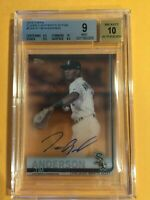 🔥TIM ANDERSON 2019 Topps Clearly Auth Auto BGS 9/10 White Sox🔥Batt AVG CHAMP!
