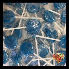 BLUE LOLLIPOPS  125CT LOLLYPOPS CANDY BUFFET BLUE LOLLIES HALAL & GLUTEN FREE