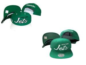 Mitchell & Ness Men's New York Jets Script Adjustable Snapback Hat