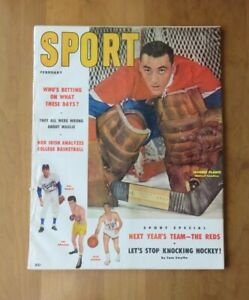 FEB 1957 SPORT MAGAZINE JACQUES PLANTE COVER MONTREAL CANADIENS EX