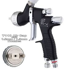DeVilbiss GTI Pro Lite Spray Gun T110 1.2 and 1.3mm Black