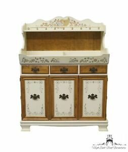 """ETHAN ALLEN Decorated Hitchcock Style 40"""" Dry Sink Cupboard 14-6295"""