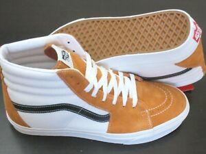 Vans Men's Sk8-Hi Retro Sport Apricot Orange True White Skate shoes Size 10 NEW