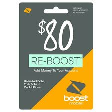 Boost Mobile - Re-Boost $80 Prepaid Phone Card Refilled directly to your mobile