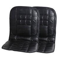 2x Leder Rückenlehne Vorne Sitzbezug Kissen Stuhl Massage Für Auto Taxi Van