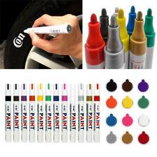 12Pcs Waterproof Permanent Paint Marker Pen Car Tyre Tire Tread Rubber Colorful