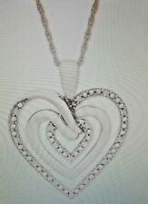 "NIB Diamond Multi-Heart 18"" Pendant Necklace (1/10 ct. t.w.) in Sterling Silver"