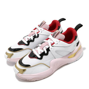 Puma Rise Charlotte Olympia White Pink Gold Red Black Women Lifestyle 372860-01