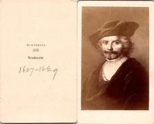 Rembrandt, peintre hollandais Vintage CDV albumen carte de visite - Rembrandt Ha