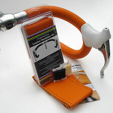 Velobitz Vintage Orange Leather Handlebar Cover Kit, Molteni, Holdsworth Teams