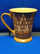 DENBY - VTG 1990s - ART DECO/GATSBY MUG brown / yellow