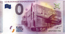 62 EPERLECQUES Le blockhaus, 2015, Billet 0 Euro Souvenir