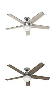 """Hunter, 54"""" Large Room Ceiling Fan Reversible Blade w LED Light Kit"""