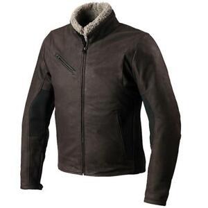 SPIDI Firebird Motorcycle Motorbike Classic Style Leather Jacket Brown