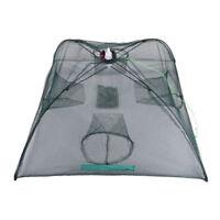 folded portable quadrilateral 4 hole automatic fishing shrimp trap fishing n LM