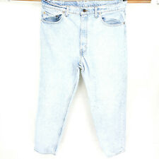 VINTAGE Levi's 550 Relaxed Fit 38x30 Tapered Leg Distressed Grunge Blue Jeans