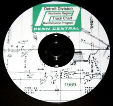 Penn Central 1969 Detroit Division Track Chart PDF Pages on DVD