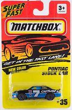 Matchbox MB 35 Pontiac Stock Car Thailand Casting Mint On Card 1995