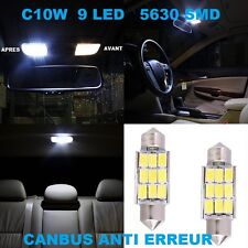 2 AMPOULES LED RENAULT LAGUNA 3 C5W NAVETTE 9 SMD PLAQUE IMMATRICULATION