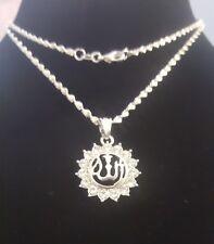 "Newly Designe Islamic""ALLAH""Silver Plated Crystal Rhinestone Pendant Necklace"