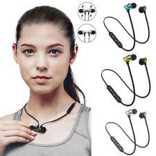 Universal Wireless Bluetooth V4.2 Magnetic Headphones Sport Music Earphone NEW