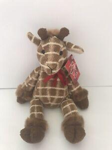 "Russ Shammies Luv Pet Gumbo Giraffe Soft Plush Bean Bag Stuffed Animal 10"" Tags"