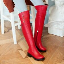 Ladies Winter Long Plush Over the Knee Plus size High Thigh Boots Riding Shoes