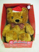 "MR GENIUS ELECTRONIC TALKING  CHRISTMAS BEAR RARE 22"" IN BOX VINTAGE 80'S"